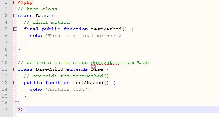 final method Example