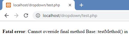 final method output